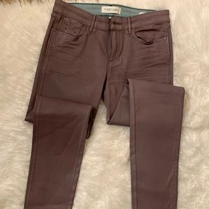 Habitual Eve/Calm Gray Coated Skinny Jeans Size 27